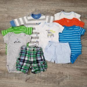 9 piece - 3 month baby boy bundle